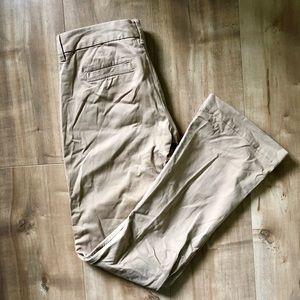 Banana Republic Tan Brown Boot Cut Stretch Pants